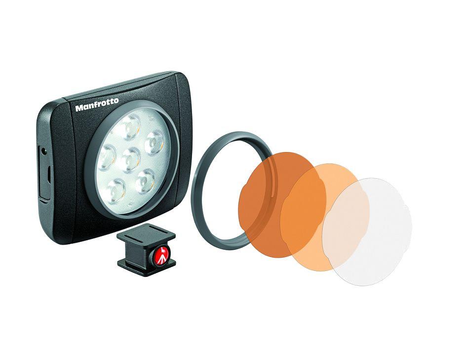 Nikon Manfrotto MLUMIEART-BK LED Lumie Art осветитель светодиодныйВспышки для зеркальных фотокамер Nikon<br>Lumie Art средний по размерам прибор в линейке светодиодных осветителей Lumie. Отличный индекс цветопередачи (&amp;gt;92) позволяет с высокой точностью воспроизвести цвета и оттенки. Освещенность 440 люкс на расстоянии 1м, угол освещения 50 градусов. Перезаряжаемый от USB Li-ion аккумулятор обеспечивают превосходное время работы 65-250 мин. 3 степени регулировки мощности прибора. Комплектуется установочной головкой с креплением ? и горячий башмак. Поставляется с корректирующими и диффузным фильтрами. Широкую гамму различных фильтров можно приобрести дополнительно. Прочная алюминиевая конструкция. Минимальный размер (7х5,4х2,7 см) и вес 137 гр.<br><br>Тип: Осветитель для видео<br>Артикул: MLUMIEART-BK