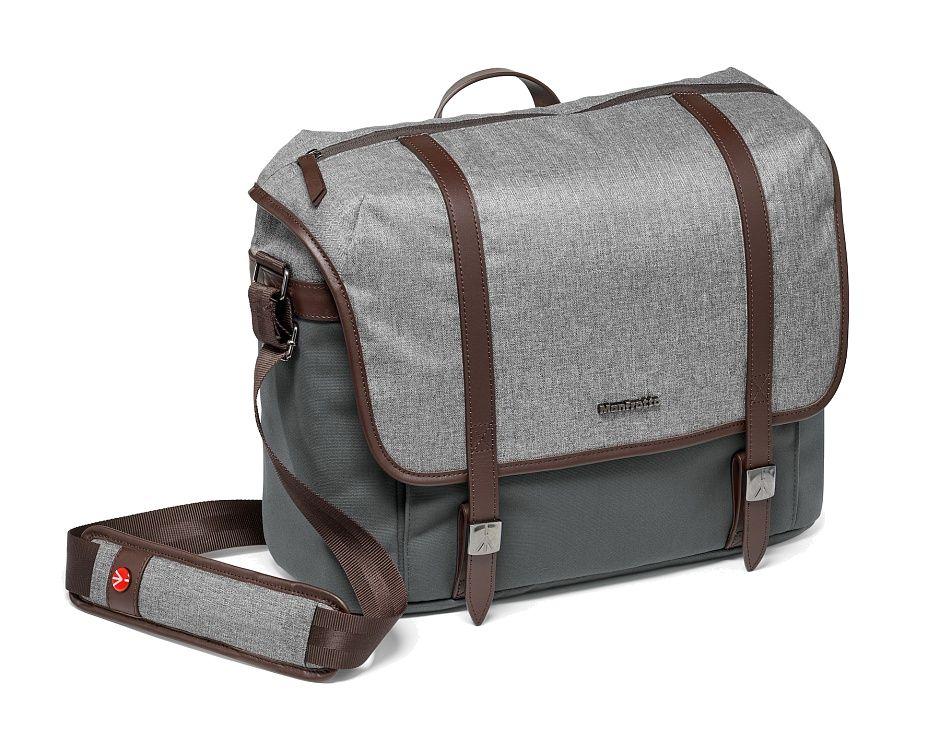 Nikon Manfrotto LF-WN-MM Сумка для фотоаппарата Windsor Messenger MЧехлы, кофры<br>Сумка предназначена для размещения средней зеркальной фотокамеры с объективом 70-200 мм и 2-3 дополнительных объектива. Предусмотрен карман для 15 ноутбука. Сумку можно использовать для дрона DJI Mavic Pro (дрон, контроллер, две батареи и зарядное устройство) и стабилизатора DJI Osmo. Карманы для небольших аксессуаров. Отделение для личных вещей. Молния в верхней части сумки обеспечивает быстрый доступ к содержимому. Для защиты оборудования установлены съемные модульные разделители, убрав которые, сумку можно использовать как повседневную. Удобный плечевой ремень с мягкой накладкой обеспечит комфортную переноску. Сумка изготовлена из премиальной водоотталкивающей ткани благородного серого цвета в сочетании с натуральными кожаными ремнями. Истинный английский стиль, основанный на безукоризненной классике, элегантности и хорошем тоне. В подкладочной ткани используются традиционная английская клетка. Металлический логотип и стилизованные застежки ненавязчиво указывают на принадлежность к именитому бренду.<br><br>Тип: Фоторюкзак<br>Артикул: MB LF-WN-MM