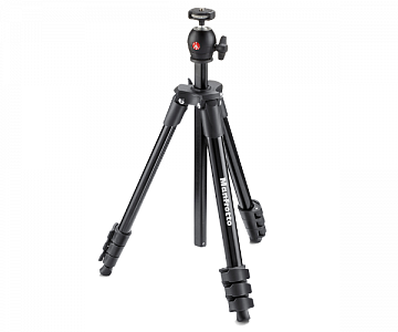 Manfrotto Штатив для фото-видеокамеры COMPACT LIGHT чёрный