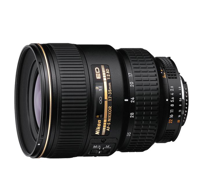 Nikon AF-S NIKKOR 17-35mm f/2.8D IF-EDШирокоугольные<br>Этот объектив с постоянной светосилой f/2,8 охватывает оптимальный диапазон фокусных расстояний для широкоугольной съемки при сохранении четкости и высокой контрастности изображения.<br><br>Тип: Зум-объектив<br>Фокусное расстояние: 17-35 мм (26-53 мм в формате DX)<br>Максимальная диафрагма: 2.8<br>Минимальная диафрагма: 22<br>Подавление вибраций: Нет<br>Конструкция объектива: 13 элементов в 10 группах (2 элемента из стекла ED, 3 асферических элемента)<br>Угол зрения: FX: 104? -62?, DX:  79? -44?<br>Минимальное расстояние фокусировки: 0,28 м<br>Количество лепестков диафрагмы: 9<br>Установочный размер фильтра: 77 мм<br>Артикул: JAA770DA