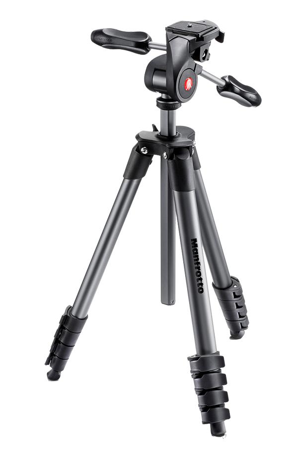 Nikon Manfrotto Штатив для фото-видеокамеры COMPACT ADVANCED Черный