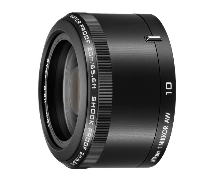 Nikon 1 Nikkor AW 10mm f/2.8 черныйШирокоугольные<br>Если вы действительно хотите запечатлеть лучшие моменты своих грандиозных приключений, вам нужен объектив, который можно брать с собой куда угодно. Без исключений! <br><br><br> Этот водонепроницаемый, ударопрочный и морозостойкий широкоугольный объектив 1 NIKKOR AW защищен от воздействия стихий и способен выдерживать удары. Надежная конструкция и роскошная металлическая отделка этого объектива превосходно дополняют фотокамеру Nikon 1 AW1. <br><br><br> Фокусное расстояние 10 мм идеально подходит для макросъемки и съемки бескрайних пейзажей. Большая светосила f/2,8 позволяет делать резкие снимки в условиях недостаточного освещения — это особенно удобно при съемке в полумраке подводного мира.<br><br>Тип: С фиксированным фокусным расстоянием<br>Фокусное расстояние: 10 мм (27 мм в формате 35 мм)<br>Максимальная диафрагма: 2.8<br>Минимальная диафрагма: 11<br>Подавление вибраций: Нет<br>Конструкция объектива: 6 элементов в 5 группах (в частности, 2 асферические линзы), 1 защитное стекло<br>Угол зрения: CX: 77°<br>Минимальное расстояние фокусировки: 0,2 м<br>Количество лепестков диафрагмы: 7<br>Установочный размер фильтра: 40,5 мм<br>Артикул: JVA103DA