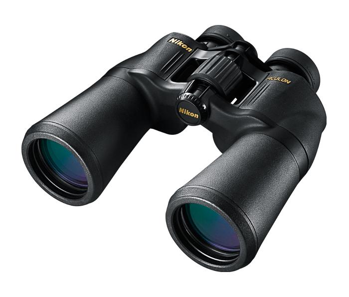 Nikon Бинокль Aculon A211 16x50Бинокли для спорта и отдыха<br>Бинокли ACULON A211: превосходные оптические характеристики по привлекательной цене. Линзы с многослойным просветляющим покрытием и объективы большого диаметра обеспечивают очень яркое изображение и широкое поле зрения. Важный вклад в качество изображения также вносят асферические линзы, используемые в окулярах.<br><br>Тип: Бинокль Aculon<br>Диаметр объектива (мм): 50<br>Влагозащищенность: Нет<br>Увеличение (x): 16<br>Выходной зрачок (мм): 3.1<br>Вынос точки визирования (мм): 12.6<br>Относительная яркость: 9.6<br>Минимальное расстояние фокусировки (м): 9<br>Реальный угол зрения (°): 4.2<br>Регулировка расстояния между центрами окуляров (мм): 56-72<br>Тип призмы: Перископ<br>Питание: Нет<br>Артикул: BAA816SA