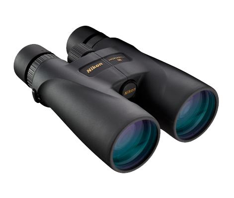 Nikon Бинокль Monarch 5 16X56Бинокли для охоты и рыбалки<br>Бинокли MONARCH 5 с объективами 56 мм и 16-кратным увеличением предназначены для интенсивного использования на дальних дистанциях в самых сложных условиях освещения. Страстные охотники и любители природы оценят яркое, четкое изображение, прочную конструкцию и удобство этих биноклей. Высокое 16-кратное увеличение позволяет рассмотреть самые мелкие детали. Низкодисперсионное стекло Nikon ED (Extra-low Dispersion, сверхнизкое рассеивание), диэлектрическое покрытие с высоким коэффициентом отражения и фазокорректирующее покрытие обеспечивают максимальную реалистичность изображения. <br><br>Поворотно-выдвижные резиновые окуляры и большой вынос точки визирования помогают удобно разместить бинокль у глаз, быстро обнаружить и отслеживать объект наблюдения. Бинокли MONARCH 5 защищены от воды и запотевания и имеют резиновое покрытие, обеспечивающее надежный, удобный захват. Они имеют удобные, откидывающиеся вниз крышки объективов, гарантирующие, что Вы никогда не потеряете их на природе.<br><br>Тип: Бинокль Monarch<br>Диаметр объектива (мм): 56<br>Влагозащищенность: Да<br>Увеличение (x): 16<br>Выходной зрачок (мм): 3.5<br>Вынос точки визирования (мм): 16.4<br>Относительная яркость: 12.3<br>Минимальное расстояние фокусировки (м): 5<br>Реальный угол зрения (°): 4.1<br>Регулировка расстояния между центрами окуляров (мм): 60-72<br>Тип призмы: Roof<br>Питание: Нет<br>Артикул: BAA836SA