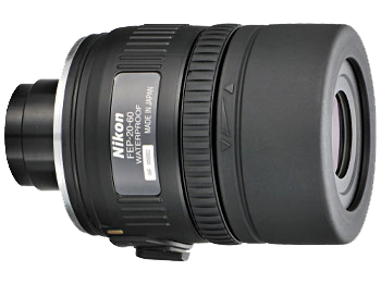 Nikon Окуляр к EDG FEP-20-60Окуляры<br>Обеспечивает получение ярких, высококачественных изображений с увеличением 20–60x при прикреплении к зрительной трубе модели EDG с объективом диаметром 85 мм и увеличением 16–48x при прикреплении к модели с объективом диаметром 65 мм. Оснащен креплением байонетного типа c блокировкой, обеспечивающей быстрое и надежное прикрепление к зрительной трубе. Данный окуляр с зуммированием и большим выносом выходного зрачка прекрасно подходит для рассмотрения объектов с различных дистанций, даже если пользователь носит очки.<br><br><br> Увеличение: 20-60кратное при прикреплении к зрительной трубе EDG 85 и 16-48кратное при прикреплении к зрительной трубе EDG 65.<br><br><br> Байонет с блокировкой обеспечивает быстрое и надежное прикрепление.<br><br><br> Линзы с многослойным покрытием уменьшают внутренние отражения и засветку, обеспечивая превосходное пропускание света и получение резкого, высококачественного изображения.<br><br><br> Асферические элементы объектива обеспечивают получение ярких, высококачественных изображений с прекрасным цветовым балансом и минимальным искажением.<br><br><br> Водозащита (до 2 м в течение 10 минут) и защита от запотевания с применением уплотнительных колец и азота.<br><br><br> Большой вынос выходного зрачка: 18,5–2,0 мм при прикреплении к зрительной трубе EDG 85 и 16,8–2 мм при прикреплении к зрительной трубе EDG 65.<br><br><br> Обеспечивается совместимость со специальными переходниками байонета окуляра зрительной трубы FEP.<br><br><br> Предназначен для цифроскопии с определенными фотокамерами Nikon COOLPIX.<br><br>Тип: Окуляр к зрительной трубе<br>Артикул: BDB805AA