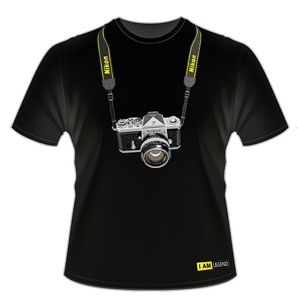 Nikon Футболка с фотоаппаратом  F (черная)