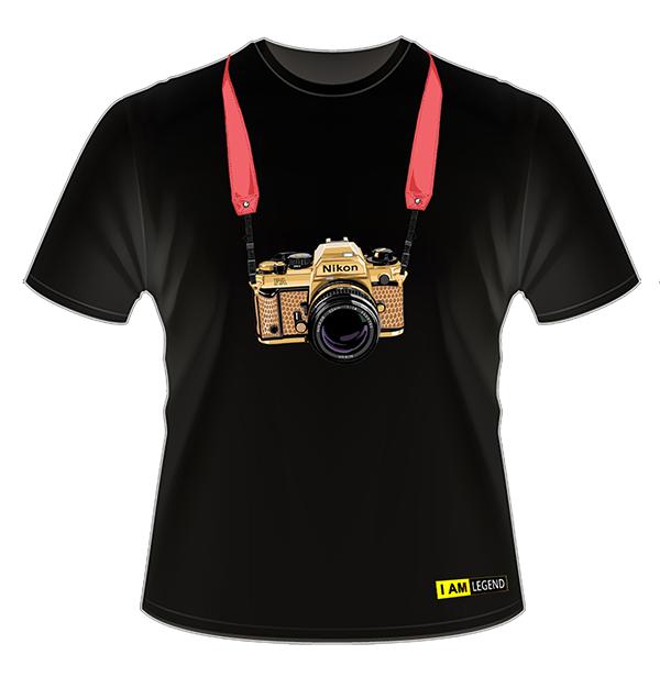 Nikon Футболка с фотоаппаратом  FA (черная) от Nikonstore.ru