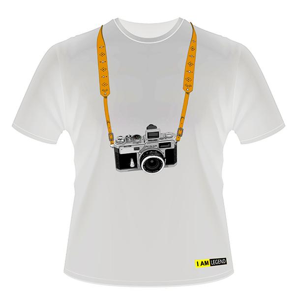 Nikon Футболка с фотоаппаратом  SP (белая)