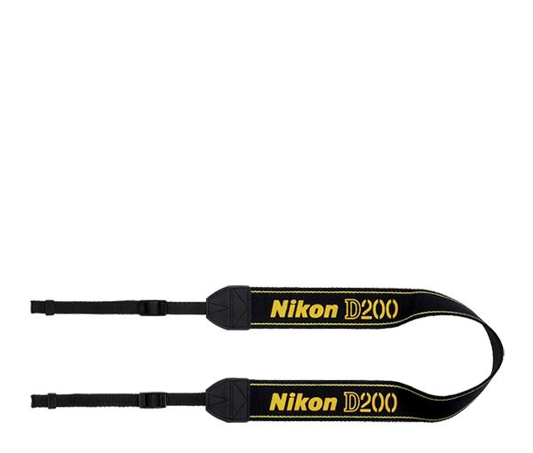Nikon Ремень для переноски AN-D200Ремни<br>Удобный наплечный ремень для фотоаппаратов Nikon <br><br>Материал: полиэстер <br>Ремень от фотокамеры D200<br><br>Тип: Ремень для фотокамеры<br>Артикул: VXA13082