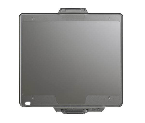 Nikon Крышка монитора BM-12 для D800Защита фотокамер<br>Прозрачная пластиковая крышка, прикрепляющаяся к корпусу фотокамеры для защиты ЖК монитора от повреждений. <br> <br> Применяется для зеркальной фотокамеры: D800, D800E, D810, D810A<br><br>Тип: Крышка монитора<br>Артикул: VBW24001