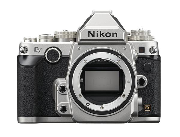 Nikon   Df (без объектива) СеребристыйПрофессиональные<br>Корпус в стиле ретро и та же матрица формата FX с разрешением 16,2 мегапикселя, которая используется в ведущей фотокамере линейки Nikon, D4, пробуждает интерес к фотосъемке как внешним видом, так и функциональными возможностями.<br> <br> Фотограф...<br><br>Тип: Цифровая зеркальная фотокамера<br>Формат матрицы: FX<br>Тип матрицы, размер: КМОП: 36,0 x 23,9 мм<br>Эффективное число пикселей: 16,2 млн<br>Процессор (АЦП): EXPEED 3<br>Чувствительность ISO: От 100 до 12 800 единиц ISO с шагом 1/3 EV. Также можно установить значение приблизительно на 0,3; 0,7 или 1 EV (эквивалентно 50 единицам ISO) ниже чувствительности 100 единиц ISO либо значение приблизительно на 0,3; 0,7; 1, 2, 3 или 4 EV (эквивалентно 204 800 единицам ISO) выше чувствительности 12 800 единиц ISO<br>Автофокусировка: Multi-CAM 4800 с определением фазы TTL, тонкой подстройкой и 39 точками фокусировки (включая 9 датчиков перекрестного типа; 33 центральные точки доступны при диафрагме менее f/5,6 и более f/8; 7 центральных точек фокусировки доступны при диафрагме f/8)<br>Режим зоны автофокуса: Одноточечная АФ; 9-, 21- или 39-точечная динамическая АФ, 3D-слежение, автоматический выбор зоны АФ<br>Выдержка синхронизации: 1/200 с; синхронизация с затвором при выдержке не короче 1/250 с<br>Режимы съемки: Покадровая съемка, непрерывная низкоскоростная съемка, непрерывная высокоскоростная съемка, тихий затвор, автоспуск, подъем зеркала<br>Контроль экспозиции: P, S, A, M<br>Коррекция экспозиции: От ?3 до +3 EV с шагом 1/3, 1/2 или 1 EV<br>Баланс белого: Авто (2 варианта), Лампы накаливания, Лампы дневного света (7 вариантов), Прямой солнечный свет, Вспышка, Облачно, Тень, Ручная настройка (возможность хранения до 4 значений, в режиме live view можно измерить точечный баланс белого), выбор цветовой температуры (в диапазоне от 2500 до 10 000 К); тонкая настройка доступна для всех значений<br>Скорость съемки: До 5,5 к/сек<br>Видеоролики — размер кадра (в пикселя