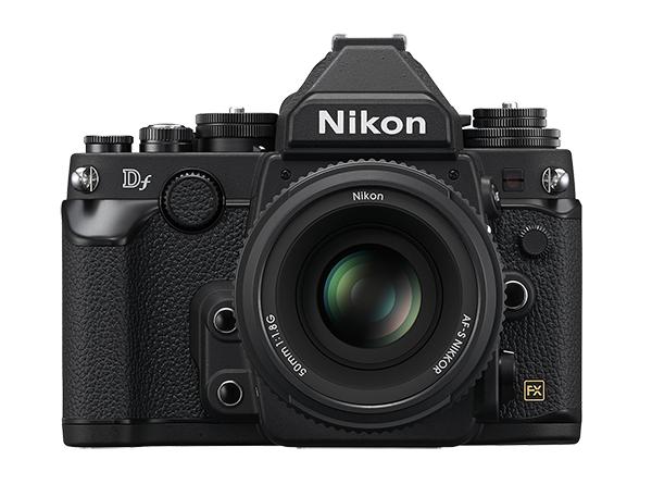 Nikon  Df Kit + AF-S 50mm f/1.8 ЧерныйПрофессиональные<br>Корпус в стиле ретро и та же матрица формата FX с разрешением 16,2 мегапикселя, которая используется в ведущей фотокамере линейки Nikon, D4, пробуждает интерес к фотосъемке как внешним видом, так и функциональными возможностями.<br> <br> Фотографии с...<br><br>Тип: Цифровая зеркальная фотокамера<br>Формат матрицы: FX<br>Тип матрицы, размер: КМОП: 36,0 x 23,9 мм<br>Эффективное число пикселей: 16,2 млн<br>Процессор (АЦП): EXPEED 3<br>Чувствительность ISO: От 100 до 12 800 единиц ISO с шагом 1/3 EV. Также можно установить значение приблизительно на 0,3; 0,7 или 1 EV (эквивалентно 50 единицам ISO) ниже чувствительности 100 единиц ISO либо значение приблизительно на 0,3; 0,7; 1, 2, 3 или 4 EV (эквивалентно 204 800 единицам ISO) выше чувствительности 12 800 единиц ISO<br>Автофокусировка: Multi-CAM 4800 с определением фазы TTL, тонкой подстройкой и 39 точками фокусировки (включая 9 датчиков перекрестного типа; 33 центральные точки доступны при диафрагме менее f/5,6 и более f/8; 7 центральных точек фокусировки доступны при диафрагме f/8)<br>Режим зоны автофокуса: Одноточечная АФ; 9-, 21- или 39-точечная динамическая АФ, 3D-слежение, автоматический выбор зоны АФ<br>Выдержка синхронизации: 1/200 с; синхронизация с затвором при выдержке не короче 1/250 с<br>Режимы съемки: Покадровая съемка, непрерывная низкоскоростная съемка, непрерывная высокоскоростная съемка, тихий затвор, автоспуск, подъем зеркала<br>Контроль экспозиции: P, S, A, M<br>Коррекция экспозиции: От ?3 до +3 EV с шагом 1/3, 1/2 или 1 EV<br>Баланс белого: Авто (2 варианта), Лампы накаливания, Лампы дневного света (7 вариантов), Прямой солнечный свет, Вспышка, Облачно, Тень, Ручная настройка (возможность хранения до 4 значений, в режиме live view можно измерить точечный баланс белого), выбор цветовой температуры (в диапазоне от 2500 до 10 000 К); тонкая настройка доступна для всех значений<br>Скорость съемки: До 5,5 к/сек<br>Видеоролики — размер кадра (в пик