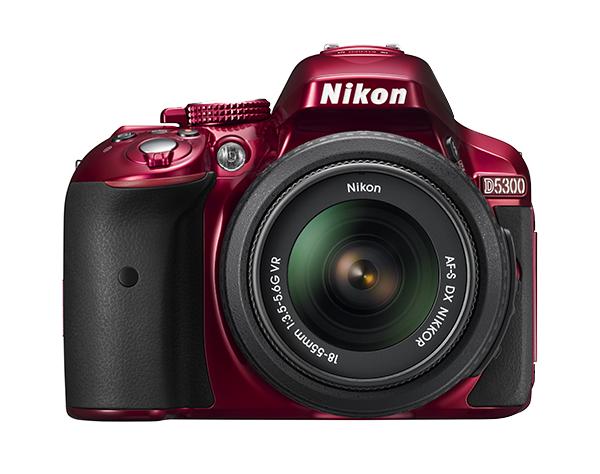 Nikon  D5300 Kit AF-S DX 18-55mm f/3.5-5.6G VR II  Красный