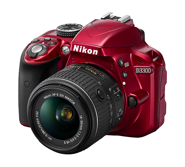 Nikon  D3300 Kit AF-S DX 18-55mm f/3.5-5.6G VRII Красный