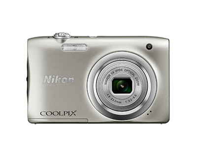 Nikon Coolpix A100 серебристыйСерия Style<br>Ваши снимки будут незабываемыми благодаря 20,1-мегапиксельной ПЗС-матрице, а объектив NIKKOR с 5-кратным оптическим зумом (расширяемый до 10-кратного с помощью функции Dynamic Fine Zoom?) поможет создавать великолепные портреты друзей и родных кру...<br><br>Тип: Компактная цифровая фотокамера<br>Формат матрицы: 1/2,3 дюйма<br>Тип матрицы, размер: ПЗС: прибл. 6,2 x 4,6 мм<br>Эффективное число пикселей: 20 млн<br>Процессор (АЦП): EXPEED C2<br>Чувствительность ISO: 80-1600 единиц ISO. 3200 единиц ISO (доступна при использовании «Авто режима»)<br>Автофокусировка: АФ с функцией определения контраста<br>Режим зоны автофокуса: Приоритет лица, по центру, ручной с 99 зонами фокусировки, ведение объекта, АФ с обнаружением объекта<br>Выдержка синхронизации: До 1/2000 (электронный затвор)<br>Контроль экспозиции: 16 сюжетных режимов<br>Коррекция экспозиции: От ?2 до +2 EV с шагом 1/3<br>Видеоролики — размер кадра (в пикселях) и частота кадров: 1280 x 720 30 к/сек; AVI (совместимые с Motion-JPEG)<br>Видеоролики — устройство записи звука: Встроенный микрофон<br>Монитор: ЖК-монитор TFT с диагональю 6,7 см, разрешением прибл. 230 тыс. точек и 5-уровневой регулировкой яркости<br>Носители данных: Карта памяти SD/SDHC/SDXC<br>Коммуникационные функции: Нет<br>Горячий башмак: Нет<br>Формат файлов для хранения: Снимки: JPEG.<br>Выдержка: От 1/2000 до 1 с, 4 с (при установленном сюжетном режиме «Фейерверк»)<br>Встроенная вспышка: [W]: 0,5-4,0 м. [T]: 0,8-2,0 м<br>Видоискатель: Нет<br>Диоптрийная настройка: Нет<br>Покрытие кадра: Прибл. 98%<br>Год выпуска: С 2016<br>Объектив: 4,6-23,0 мм f/3,2-6,5 (x5)<br>Фокусное расстояние: 4,6-23,0 мм (26-130 мм в формате 35 мм)<br>Максимальная диафрагма: 3,2-6,5<br>Минимальная диафрагма: 8<br>Подавление вибраций: Да (электронный)<br>Ресурс работы батареи: Прибл. 250 снимков/1 ч 5 мин<br>Питание: EN-EL19<br>Цвет корпуса: Серебристый