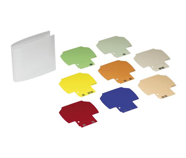 Nikon Набор цветных желатиновых фильтров SJ-3Насадки и фильтры<br>SJ-3 - ряд из 8 цветных фильтров для использования со вспышкой Nikon SB-900, SB-910. <br><br><br>Включает FL-G1 &amp;amp; FL-G2 (флуоресцентное балансирование), TN-A1 &amp;amp; TN-A2 (сверкающее освещение), красные, синие, желтые и янтарные фильтры. Позволяет Вам изменять цветной вывод перепрограммируемого модуля, чтобы освещение от вспышки соответствовало фоновому свету или для добавления дополнительных цветов к снимаемой сцене.<br><br>Тип: Фильтр для вспышки<br>Артикул: FSW54201