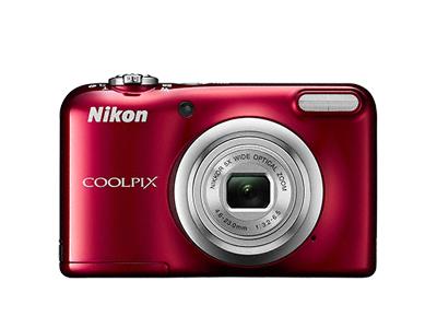 Nikon Coolpix A10 красныйСерия Life<br>Интуитивно простое управление фотокамерой COOLPIX A10 позволяет получать от съемки настоящее удовольствие.<br> Эта фотокамера с удобной рукояткой и понятным расположением кнопок была создана с акцентом на простоту. Объектив NIKKOR с 5-кратным оптически...<br><br>Тип: Компактная цифровая фотокамера<br>Формат матрицы: 1/2,3 дюйма<br>Тип матрицы, размер: ПЗС: прибл. 6,2 x 4,6 мм<br>Эффективное число пикселей: 16,1 млн<br>Процессор (АЦП): EXPEED C2<br>Чувствительность ISO: 80-1600 единиц ISO<br>Автофокусировка: АФ с функцией определения контраста<br>Режим зоны автофокуса: По центру, распознавание лица<br>Выдержка синхронизации: До 1/2000 (электронный затвор)<br>Режимы съемки: 15 сюжетных режимов<br>Контроль экспозиции: 15 сюжетных режимов<br>Коррекция экспозиции: От –2,0 до +2,0 EV с шагом 1/3 EV<br>Видеоролики — размер кадра (в пикселях) и частота кадров: 1280 x 720 30 к/сек; AVI (совместимые с Motion-JPEG)<br>Видеоролики — устройство записи звука: Встроенный микрофон<br>Монитор: ЖК-монитор TFT с диагональю 6,7 см, разрешением прибл. 230 тыс. точек и 5-уровневой регулировкой яркости<br>Носители данных: Карта памяти SD/SDHC/SDXC<br>Коммуникационные функции: Нет<br>Горячий башмак: Нет<br>Формат файлов для хранения: Снимки: JPEG.<br>Выдержка: От 1/2000 до 1 с, 4 с (в сюжетном режиме «Фейерверк»)<br>Встроенная вспышка: [W]: от 0,5 до 3,6 м, [T]: от 0,8 до 1,7 м<br>Видоискатель: Нет<br>Диоптрийная настройка: Нет<br>Покрытие кадра: Прибл. 98% в режиме съемки и прибл. 98% в режиме просмотра<br>Год выпуска: С 2016<br>Объектив: 4,6-23,0 мм f/3,2-6,5 (x5)<br>Фокусное расстояние: 4,6-23,0 мм (26-130 мм в формате 35 мм)<br>Максимальная диафрагма: 3,2-6,5<br>Минимальная диафрагма: 8<br>Подавление вибраций: Да (электронный)<br>Ресурс работы батареи: Прибл. 200 снимков при использовании щелочных батарей, прибл. 730 снимков при использовании литиевых батарей, прибл. 500 снимков при использовании батарей EN-MH2. Прибл. 1 ч 25 мин при использовании