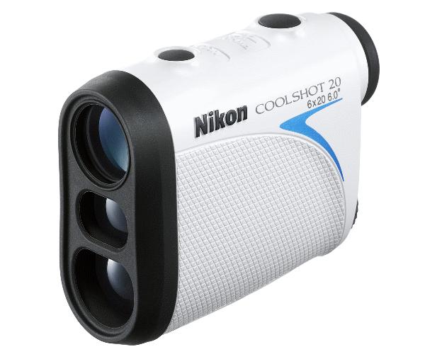 Nikon Дальномер COOLSHOT 20Лазерные дальномеры<br>Сделайте свою игру еще точнее с Nikon COOLSHOT 20, самым компактным и легким лазерным дальномером в своем классе. <br> <br> Достаточно нажатия одной кнопки, чтобы Nikon COOLSHOT 20 сообщил точное расстояние до выбранных целей на основном поле и дистанцию до стартовой зоны. <br><br><br> А если за полем лес? Просто включите режим «Приоритет ближайшей цели», позволяющий измерять расстояние до ближайшего объекта. <br> <br>  К вашим услугам четкое изображение и прецизионная точность измерения на дистанции до 500 м (550 ярдов). <br> <br> 8-секундный непрерывный замер компенсирует даже движение руки.<br><br>Тип: Лазерный дальномер<br>Диаметр объектива (мм): 20<br>Влагозащищенность: ВлагозащитаJIS/IEC 4 (IPX4)<br>Поле зрения (°): 6<br>Увеличение (x): 6<br>Выходной зрачок (мм): 3.3<br>Вынос точки визирования (мм): 16.7<br>Реальный угол зрения (°): 6<br>Внешний ЖК-монитор: Нет<br>Диапазон измерения (м/ярды): 5-500 / 6-550<br>Непрерывный режим (сек): 8<br>Диапазон измерения: 5-500 / 6-550<br>Режим измерения: Реальное расстояние<br>Отображение расстояния (шаг): 1<br>Система переключения приоритета цели: Ближняя цель<br>Светодиодная подсветка: Нет<br>Непрерывный режим: 8<br>Автоматическое отключение питания: 8<br>Температура эксплуатации: От -10 до +50<br>Питание: CR2<br>Артикул: BKA127SA