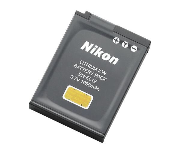 Nikon Батарея EN-EL12Питание фотокамер<br>Аккумуляторная литий-ионная батарея большой емкости позволяет сделать примерно 250 снимков<br> <br> Тип Li-lon.<br> Емкость 1050 mAh.<br> Номинальное напряжение 3,7 V.<br> Заряжается при помощи зарядного устройства MH-65<br> <br><br><br> Применяется для фотокамер: COOLPIX S610, COOLPIX S610c, COOLPIX S620, COOLPIX S630, COOLPIX S710, COOLPIX S640, COOLPIX S70, COOLPIX S1000pj, COOLPIX S8000, COOLPIX S1100Pj, COOLPIX S6100, COOLPIX S8100, COOLPIX S6150, COOLPIX S1200Pj, COOLPIX S6200, COOLPIX S8200, COOLPIX S9300, COOLPIX S9400, COOLPIX S9500, COOLPIX S9600, COOLPIX S9700, COOLPIX S9900, COOLPIX P300, COOLPIX P310, COOLPIX P330, COOLPIX P340, COOLPIX AW100, COOLPIX AW110, COOLPIX AW120, COOLPIX AW130, COOLPIX A900, KeyMission 360 и 170<br><br>Тип: Литий-ионная аккумуляторная батарея<br>Артикул: VFB10401