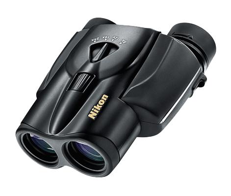 Nikon  Бинокль Aculon T11 8-24x25 ЧерныйБинокли компактные<br>Компактный универсальный бинокль с панкратическим увеличением от 8- до 24-кратного, диаметром объектива 25 мм и сверхплавной регулировкой увеличения. <br><br><br> Линзы Nikon с многослойным просветляющим покрытием обеспечивают высокую четкость и яркость из...<br><br>Тип: Бинокль Aculon<br>Диаметр объектива (мм): 25<br>Влагозащищенность: Нет<br>Увеличение (x): от 8 до 24<br>Выходной зрачок (мм): 3,1 (при 8x увеличении)<br>Вынос точки визирования (мм): 13<br>Относительная яркость: 9,6 (при 8x увеличении)<br>Минимальное расстояние фокусировки (м): 4<br>Реальный угол зрения (°): 4,6 (при 8x увеличении)<br>Регулировка расстояния между центрами окуляров (мм): 56-72<br>Тип призмы: Roof<br>Питание: Нет<br>Цвет корпуса: Черный