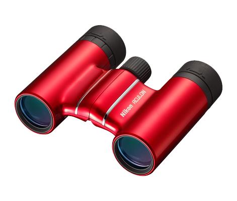 Nikon  Бинокль Aculon T01 10x21 КрасныйБинокли компактные<br>Законодатель мод в мире первоклассной оптики Nikon! Превосходные характеристики и стильный дизайн по цене базовой модели. Компактный и легкий бинокль ACULON T01 с объективом размером 21 мм и 10-кратным увеличением идеально подходит для любого отдых...<br><br>Тип: Бинокль Aculon<br>Диаметр объектива (мм): 21<br>Влагозащищенность: Нет<br>Увеличение (x): 10<br>Выходной зрачок (мм): 2.1<br>Вынос точки визирования (мм): 8.3<br>Относительная яркость: 4.4<br>Минимальное расстояние фокусировки (м): 3<br>Реальный угол зрения (°): 5<br>Регулировка расстояния между центрами окуляров (мм): 56-72<br>Тип призмы: Roof<br>Питание: Нет<br>Цвет корпуса: Красный