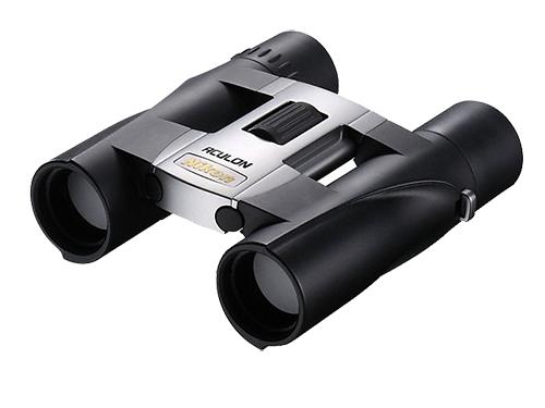 Nikon  Бинокль ACULON A30 8X25 СеребристыйБинокли компактные<br>Бинокли ACULON A30 позволяют постоянно находиться в центре событий. Следите за спортивными событиями через объектив диаметром 25 мм c линзами, дающими большое, яркое и четкое изображение. <br> <br> Бинокли ACULON A30 настолько компактные и легкие, чт...<br><br>Тип: Бинокль Aculon<br>Диаметр объектива (мм): 25<br>Влагозащищенность: Нет<br>Увеличение (x): 8<br>Выходной зрачок (мм): 3.1<br>Вынос точки визирования (мм): 15<br>Относительная яркость: 9.6<br>Минимальное расстояние фокусировки (м): 3<br>Реальный угол зрения (°): 6<br>Регулировка расстояния между центрами окуляров (мм): 56-72<br>Тип призмы: Roof<br>Питание: Нет<br>Цвет корпуса: Серебристый