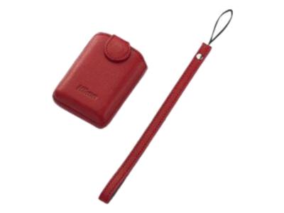 Nikon  Чехол кожаный для Coolpix S01 Красный
