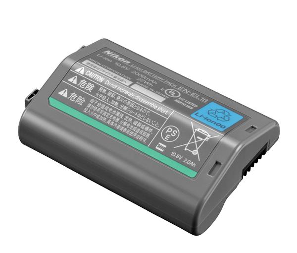 Nikon Батарея EN-EL18Питание фотокамер<br>Литий-ионная аккумуляторная батарея емкостью 2000 мАч (10,8 В) с длительным сроком службы.<br><br><br> Тип Li-lon.<br> Емкость 2000 mAh.<br> Номинальное напряжение 10.8 V.<br> Заряжается при помощи зарядного устройства MH-26<br><br><br> Предназначен для фотокамер:D4<br><br>Тип: Литий-ионная аккумуляторная батарея<br>Артикул: VFB11001