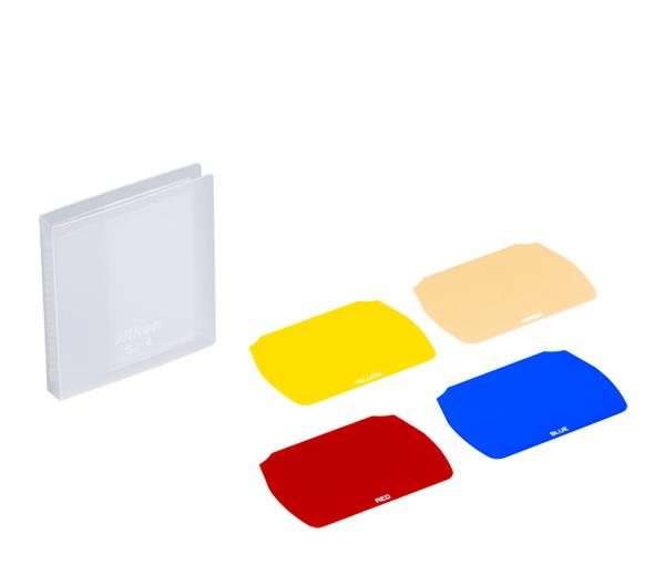 Nikon Набор желатиновых фильтров SJ-4 для вспышки SB-700Насадки и фильтры<br>Набор желатиновых фильтров для вспышки SB-700 Включенные цветные фильтры используются для творческого контроля за освещением, чтобы добавить драматические цвета к сцене. <br> <br> Применяется со вспышкой SB-700. <br> <br> Держатель для желатиновых фильтров SZ-3 для вспышки SB-700 идёт в комплекте.<br><br>Тип: Фильтр для вспышки<br>Артикул: FSW54801