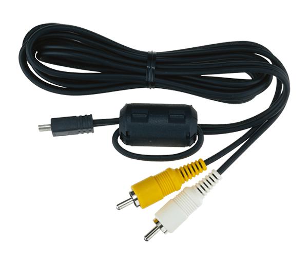 Nikon Аудио/Видео кабель EG-CP14Аксессуары для подключения<br>Этот аудио/видеокабель предназначен для подключения некоторых моделей фотокамер COOLPIX к телевизору, видеомагнитофону, устройству для записи DVD-дисков или записывающему устройству с жестким диском. Он оснащен разъемами типа RCA и разъемом mini-USB. <br> <br> Предназначен для фотокамер серии COOLPIX 3200, 3700, 4100, 4200, 4800, 5200, 5600, 5900, 7600, 7900, 8400, 8800, L1, L101, L2, L3, L5, L6, L10, L11, L12, L14, L15, L16, L18, L19, L20, L21, L22, L100, L110, L320, L330, S4, S9, S10, S70, S200, S210, S220, S230, S500, S510, S520, S560, S600, S620, S630, S710, S1000pj, S2500, S2550, S2600, S2700, S2750, S2800, S2900, S3000, S3100, S3300, S3400, S3500, S3600, S3700,  S4000, S4150, S4100, S4300, S5100, S6700, S6000, S8000,  P1, P2, P3, P4, P50, P60, P80, P90, P100, P5000, P5100, P6000, D5000, D3300, D5100<br><br>Тип: Аудио/Видео кабель<br>Артикул: VXA13054