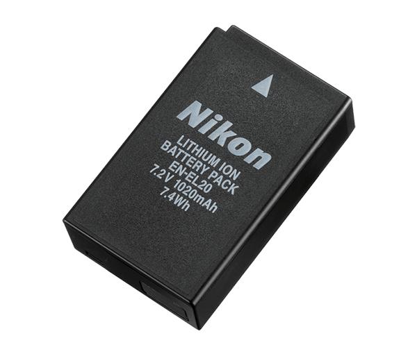 Nikon Батарея EN-EL20Питание фотокамер<br>Компактная литий-ионная аккумуляторная батарея емкостью 700 мА/ч. <br><br>Эту аккумуляторную батарею можно заряжать с помощью специальных зарядных устройств MH-27 <br><br>Тип Li-lon. <br>Емкость 1020 mAh. <br>Номинальное напряжение 7,2 V. <br>Заряжается при помощи зарядного устройства MH-27 <br><br>Предназначен для фотокамер: COOLPIX A, Nikon 1 S1, J1, J2, J3, AW1<br><br>Тип: Литий-ионная аккумуляторная батарея<br>Артикул: VFB11201