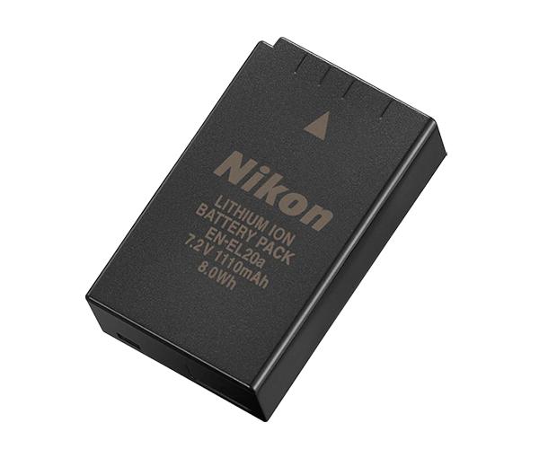 Nikon Батарея EN-EL20aПитание фотокамер<br>Сверхкомпактная литий-ионная аккумуляторная батарея емкостью 1110 мА/ч. <br> <br> Эту аккумуляторную батарею можно заряжать с помощью специальных зарядных устройств. <br> <br> Тип Li-lon. <br> Емкость 1110 mAh. <br> Заряжается при помощи зарядного устройства MH-29 <br> <br> Предназначен для фотокамер: Nikon 1 V3<br><br>Тип: Литий-ионная аккумуляторная батарея<br>Артикул: VFB11601