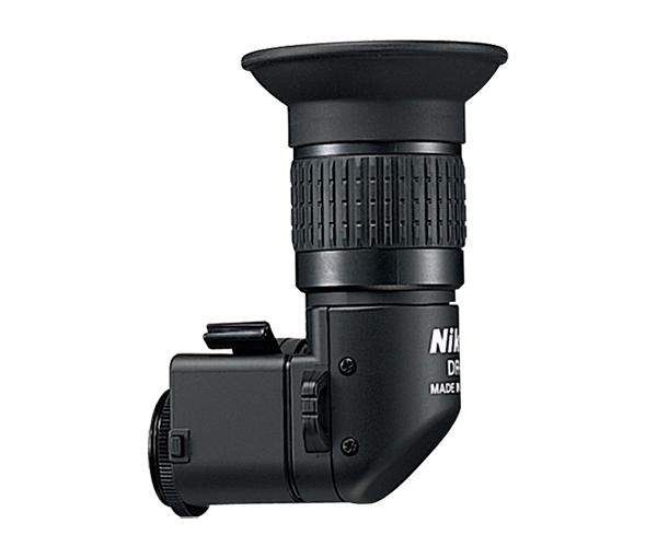 Nikon Угловой видоискатель DR-5Аксессуары для визирования<br>На видоискатель зеркальной фотокамеры Nikon может быть установлена угловая насадка. С этой насадкой изображение видоискателя можно наблюдать сбоку от фотокамеры, что очень удобно при съемке с низкой или высокой точки, когда неудобно пользоваться обычным видоискателем, а также при макросъемке. Коэффициент увеличения изменяется от 1:1 до 1:2. <br> <br> Изменяемый от 1:1 до 1:2 коэффициент увеличения <br> <br> При коэффициенте увеличения 1:1, конструкция 7 элементов в 5 группах <br> При коэффициенте увеличения 1:2, конструкция 8 элементов в 6 группах<br> Подстройка под зрение <br> от -8,0 до +3,8 при коэффициенте 1:1<br> от -5,0 до +6,0 при коэффициенте 1:2 <br> Размеры: 48x81,5x62 мм <br> Вес: 90 г <br> <br> Совместим с зеркальными фотокамерами: F100, FM3a, Fm2, F5, F6, D1, D2X, D2H, D2Xs, D2Hs, D700, D800, D800e,D810, D810a, D3, D3S, D3X, D4, D4s, Df<br><br>Тип: Угловой видоискатель<br>Артикул: FAF20501