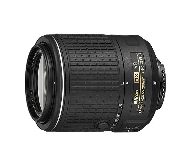 Nikon AF-S DX NIKKOR 55-200mm f/4-5.6G ED VRIIТелеобъективы<br>Благодаря сверхкомпактному корпусу и широкому диапазону фокусных расстояний (55–200 мм) данная модель идеально сочетается с небольшими цифровыми зеркальными фотокамерами формата DX.<br><br><br><br><br> Компактный, легкий и простой в использовании объектив отлично подходит для крупноплановой съемки удаленных объектов, а также для создания фотоотчетов о путешествиях, любительских снимков дикой природы и репортажей со спортивных соревнований с участием вашей семьи или друзей. Благодаря небольшому и легкому корпусу эту модель удобно использовать при съемке с рук, а механизм втягивания объектива обеспечивает ее исключительную портативность. Механизм автофокусировки гарантирует быстрое, точное и практически бесшумное наведение на объект, а система подавления вибраций от компании Nikon позволяет избежать смазывания изображений.<br><br>Тип: Зум-объектив<br>Фокусное расстояние: 55-200<br>Максимальная диафрагма: 4-5,6<br>Минимальная диафрагма: 22-32<br>Подавление вибраций: Да<br>Конструкция объектива: 13 элементов в 9 группах (1 элемент из стекла ED)<br>Угол зрения: DX: 28°50–8°<br>Минимальное расстояние фокусировки: 1,1 м<br>Количество лепестков диафрагмы: 7<br>Установочный размер фильтра: 52 мм<br>Артикул: JAA823DA