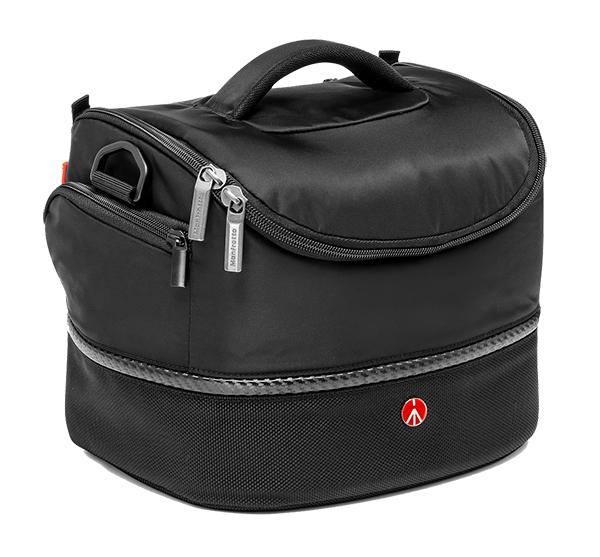 Nikon Manfrotto Shoulder bag III Сумка плечевая для фотоаппаратурыЧехлы, кофры<br>Сумка Manfrotto Advanced Shoulderbag III предназначена для любительской зеркальной камеры, с установленным стандартным зум-объективом или системной камеры Nikon 1 с дополнительными аксессуарами.<br><br><br>Сумка имеет удобный регулируемый съёмный наплечный ремень, а также ручку для переноски.<br><br><br>Оснащена мягкими разделителями и защитным чехлом от дождя.<br><br>Тип: Сумка для зеркальной фотокамеры<br>Артикул: MB MA-SB-3