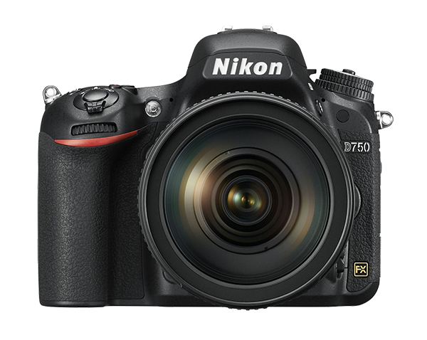 Nikon D750 Kit  + AF-S NIKKOR 24-85mm f/3.5-4.5G ED VRПрофессиональные<br>Откройте для себя мир неограниченных возможностей: дерзайте и побеждайте с помощью полнокадровой 24,3-мегапиксельной фотокамеры.<br> <br> Эта фотокамера, сочетающая технологии профессионального уровня и эргономичную компактную конструкцию, не знает препятствий для съемки. <br> <br> Новая конструкция матрицы формата FX обеспечивает исключительное качество изображения и как никогда четкие результаты при больших значениях чувствительности ISO. Феноменально точная автофокусировка, высокая скорость серийной съемки (6,5 кадра в секунду), возможность записи видеороликов в формате Full HD (1080/60p) и наклонный экран предоставляют фотографу полную свободу для творчества. Используйте встроенный модуль Wi-Fi и мгновенно делитесь впечатляющими снимками.<br><br>Тип: Цифровая зеркальная фотокамера<br>Формат матрицы: FX<br>Тип матрицы, размер: КМОП: 35,9 x 24,0 мм<br>Эффективное число пикселей: 24,3 млн<br>Процессор (АЦП): EXPEED 4<br>Чувствительность ISO: 100–12 800 единиц ISO с шагом 1/3 или 1/2 EV. Также можно установить значение приблизительно на 0,3; 0,5; 0,7 или 1 EV (эквивалентно 50 единицам ISO) ниже чувствительности 100 единиц ISO либо значение приблизительно на 0,3; 0,5; 0,7; 1 или 2 EV (эквивалентно 51 200 единицам ISO) выше чувствительности 12 800 единиц ISO<br>Автофокусировка: Advanced Multi-CAM 3500 II с определением фазы TTL, точной настройкой, 51 точкой фокусировки (включая 15 датчиков перекрестного типа; 11 датчиков поддерживают светосилу f/8)<br>Режим зоны автофокуса: Одноточечная АФ; 9-, 21- или 51-точечная динамическая АФ, 3D-слежение, групповая АФ, автоматический выбор зоны АФ<br>Выдержка синхронизации: 1/200 с; синхронизация с затвором при выдержке 1/250 с или длиннее<br>Режимы съемки: S (покадровый), CL (непрерывный низкоскоростной), CH (непрерывный высокоскоростной), Q (тихий спуск затвора), автоспуск, MUP (подъем зеркала), Qc (непрерывный с тихим спуском затвора)<br>Контроль экспози