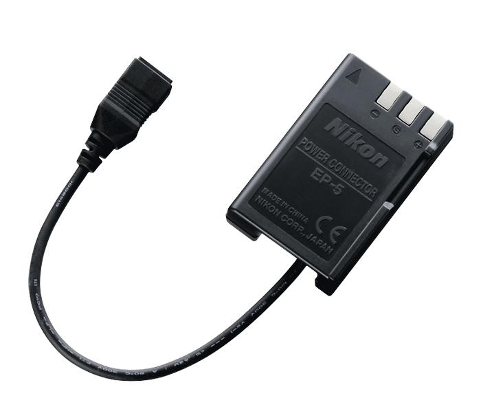 Nikon Переходник EP-5 для сетевого блока питания EH-5a/EH-5bПитание фотокамер<br>Необходим для использования сетевого блока питания EH-5a совместно с ЦФК, в которых используется аккумуляторная батарея EN-EL9 (EN-EL9a). <br><br><br>Подключив к сетевому блоку питания EH-5a переходник EP-5, можно обеспечить питание фотокамеры напрямую, просто вставив разъем питания в батарейный отсек. Необходим для использования сетевого блока питания EH-5a совместно с цифровыми зеркальными фотокамерами, в которых используется аккумуляторная батарея EN-EL9 (EN-EL9a). <br><br><br>Предназначен для фотокамер: D40, D40X, D60, D3000, D5000<br><br>Тип: Переходник для сетевого блока питания<br>Артикул: VEB00151