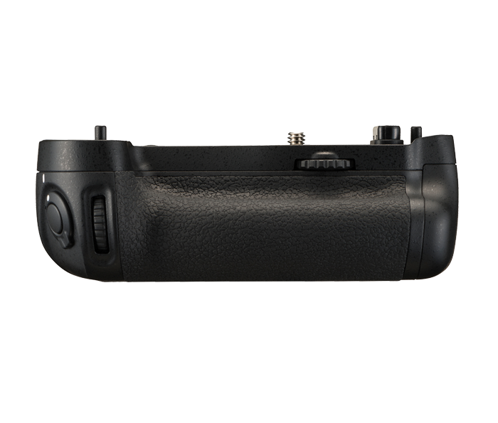 Nikon Батарейный блок MB-D16 для  D750Питание фотокамер<br>Батарейный блок MB-D16 увеличивает время автономной работы и делает более удобной работу с фотокамерой D750 при съемке с вертикальной ориентацией кадра.<br><br>В блоке имеются дополнительная спусковая кнопка затвора, мультиселектор и кнопка включения АФ для съемки в вертикальном положении фотокамеры, а также дополнительные главный и вспомогательный диски управления. Источником питания могут служит шесть стандартных батарей типоразмера AA или специальная литий-ионная батарея Nikon EN-EL15.<br><br>Применяется для фотокамеры D750<br><br>Тип: Батарейный блок<br>Артикул: VFC00501