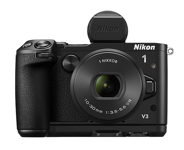 Nikon 1 V3 Kit 10-30mm PD f/3.5-5.6 черный c видоискателем и рукояткой