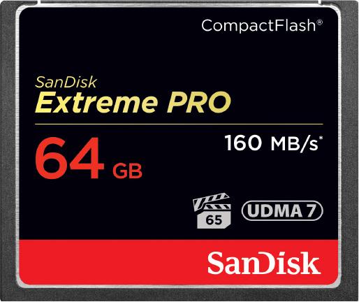 Nikon 64GB карта памяти Sandisk Extreme PRO CF 160MB/s 1000x