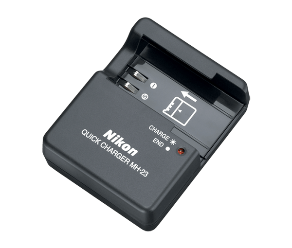 Nikon Зарядное устройство MH-23Питание фотокамер<br>Зарядное устройство MH-23 предназначено для зарядки литий-ионных аккумуляторных батарей Nikon EN-EL9, EN-EL9a. <br>Применяется для зеркальных фотокамер: D40, D40X, D60, D5000, D3000.<br><br>Тип: Быстрое зарядное устройство<br>Артикул: VEA001EA