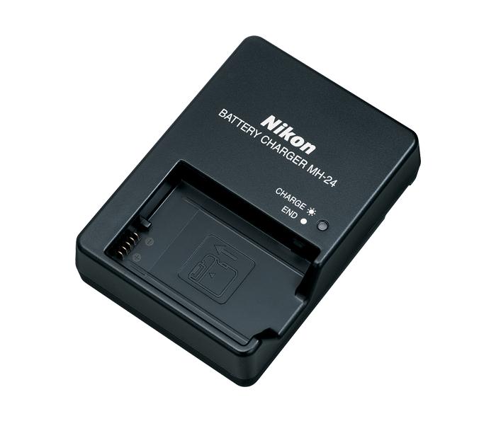 Nikon Зарядное устройство MH-24Питание фотокамер<br>Зарядное устройство MH-24 предназначено для зарядки литий-ионных аккумуляторных батарей Nikon EN-EL14, EN-EL14a <br><br><br> Применяется для зеркальных фотокамер: D3100, D3200, D3300, D5100, D5200, D5300, Df <br><br><br> Применяется для компактных камер COOLPIX P7000, P7100, P7700, P7800<br><br>Тип: Быстрое зарядное устройство<br>Артикул: VEA006EA