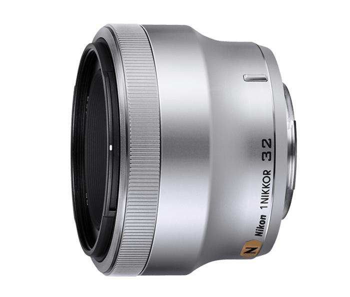 Nikon 1 NIKKOR 32mm f/1.2 серебристыйСтандартные<br>Снимайте людей с лучшей стороны в любых ситуациях, используя объектив 1 NIKKOR 32 мм. Благодаря идеальному для портретной съемки фокусному расстоянию и компактной конструкции этот впечатляющий светосильный объектив позволяет получать изображения прево...<br><br>Тип: С фиксированным фокусным расстоянием<br>Фокусное расстояние: 32 мм (85 мм в формате 35 мм)<br>Максимальная диафрагма: 1.2<br>Минимальная диафрагма: 16<br>Подавление вибраций: Нет<br>Конструкция объектива: 9 элементов в 7 группах (включая элемент с нанокристаллическим покрытием Nano Crystal Coat)<br>Угол зрения: СX: 28°<br>Минимальное расстояние фокусировки: 0,45 м<br>Количество лепестков диафрагмы: 7<br>Установочный размер фильтра: 52 мм<br>Цвет корпуса: Серебристый