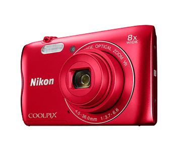 Nikon COOLPIX A300 красныйСерия Style<br>Эту легкую и компактную фотокамеру можно просто положить в сумку или карман, поэтому вы всегда будете готовы запечатлеть крупным планом друзей и родных с помощью объектива NIKKOR с 8-кратным оптическим зумом, который можно расширить до 16?кратного с п...<br><br>Тип: Компактная цифровая фотокамера<br>Формат матрицы: 1/2,3 дюйма<br>Тип матрицы, размер: ПЗС: прибл. 6,2 x 4,6 мм<br>Эффективное число пикселей: 20 млн<br>Процессор (АЦП): EXPEED C2<br>Чувствительность ISO: 80-1600 единиц ISO. 3200 единиц ISO (доступна при использовании «Авто режима»)<br>Автофокусировка: АФ с функцией определения контраста<br>Режим зоны автофокуса: Приоритет лица, по центру, ручной с 99 зонами фокусировки, ведение объекта, АФ с обнаружением объекта<br>Выдержка синхронизации: До 1/1500 (электронный затвор)<br>Коррекция экспозиции: От ?2 до +2 EV с шагом 1/3<br>Видеоролики — размер кадра (в пикселях) и частота кадров: 1280 x 720 30 к/сек; AVI (совместимые с Motion-JPEG)<br>Видеоролики — устройство записи звука: Встроенный микрофон<br>Монитор: ЖК-монитор TFT с диагональю 6,7 см, разрешением прибл. 230 тыс. точек, антибликовым покрытием и 5-уровневой регулировкой яркости<br>Носители данных: Карта памяти SD/SDHC/SDXC<br>Коммуникационные функции: Встроенный Wi-Fi (NFC) и SNAPBRIDGE<br>Горячий башмак: Нет<br>Формат файлов для хранения: Фотографии: JPEG, видеоролики: AVI (совместимые со стандартом Motion-JPEG)<br>Выдержка: От 1/1500 до 1 с, 4 с (при установленном сюжетном режиме «Фейерверк»)<br>Встроенная вспышка: [W]: 0,5-2,8 м. [T]: 1,5 м<br>Видоискатель: Нет<br>Диоптрийная настройка: Нет<br>Покрытие кадра: Прибл. 99% в режиме съемки и прибл. 99% в режиме просмотра<br>Год выпуска: С 2016<br>Объектив: 4,5-36,0 мм f/3,7-6,6 (x8)<br>Фокусное расстояние: 4,5-36,0 мм (25-200 мм в формате 35 мм)<br>Максимальная диафрагма: 3,7-6,6<br>Минимальная диафрагма: 10,5<br>Подавление вибраций: Да (оптический)<br>Влагозащищенность: Нет<br>Ресурс работы батареи: Прибл. 240 