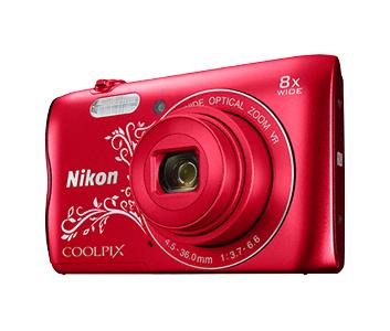 Nikon COOLPIX A300 красный с рисунком