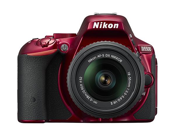 Nikon D5500 Kit AF-S DX 18-55mm f/3.5-5.6G VR II красный
