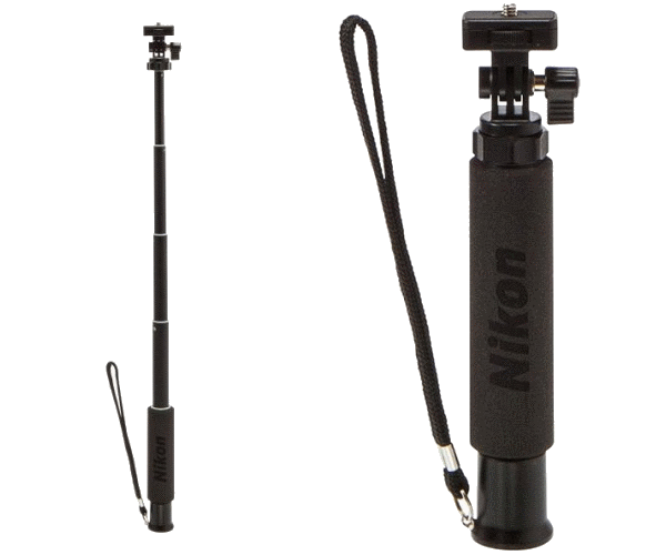 Nikon Сэлфи-палка  N-MP001Штативы<br>Сэлфи-палка для использования с компактными и экшн-камерами Nikon.<br> Сэлфи-палка имеет стандартную резьбу 1/4 на поворотной площадке для установки камеры. В основании ручки N-MP001 предусмотрено гнездо с аналогичной резьбой (1/4) для установки на треногу.<br><br>Артикул: VJC00101