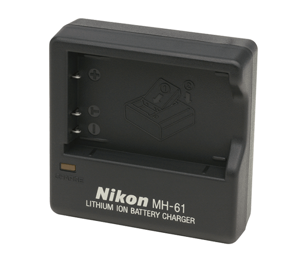 Nikon Зарядное устройство MH-61Питание фотокамер<br>Зарядное устройство для аккумулятора EN-EL5. <br> Применяется для цифровых фотоаппаратов Nikon Coolpix P6000, Coolpix P3, Coolpix P4, Coolpix P90, Coolpix P5000, Coolpix P5100, Coolpix 4200, Coolpix 5200, Coolpix 5900, Coolpix 7900, Coolpix S10, Coolpix 3700, Coolpix P500, P510, P520, P530<br><br>Тип: Быстрое зарядное устройство<br>Артикул: VAK136EB