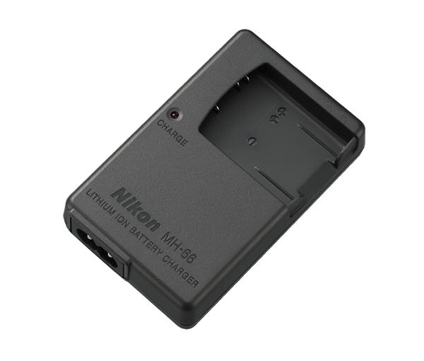 Nikon Зарядное устройство MH-66Питание фотокамер<br>Зарядное устройство MH-66 предназначено для зарядки литий-ионных аккумуляторных батарей Nikon EN-EL19. <br><br>Применяется для фотокамер Coolpix: S32, S33, S100, S2500, S2550, S2600, S2700, S2750, S2800, S2900, S3100, S3300, S3400, S3500, S3600, S3700, S4100, S4150, S4300, S5200, S5300, S6400, S6500, S6600, S6700, S6800, S6900, S7000<br><br>Тип: Быстрое зарядное устройство<br>Артикул: VEA012EA