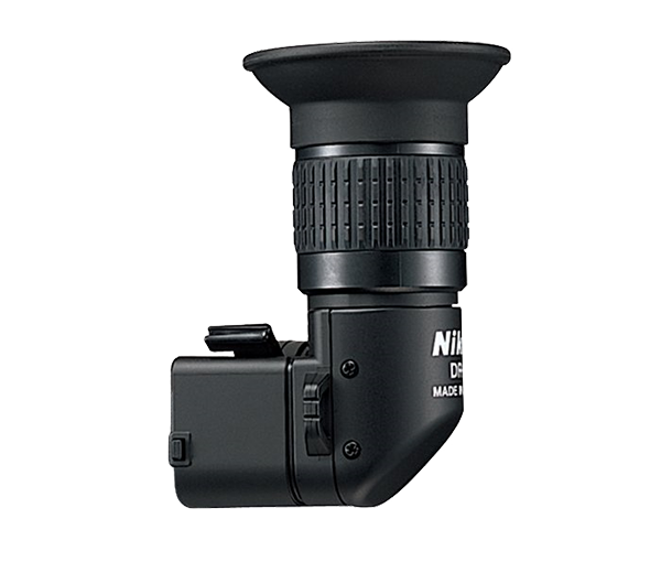Nikon Угловой видоискатель DR-6Аксессуары для визирования<br>На видоискатель зеркальной фотокамеры Nikon может быть установлена угловая насадка. С этой насадкой изображение видоискателя можно наблюдать сбоку от фотокамеры, что учень удобно при съемке с низкой или высокой точки, когда неудобно пользоваться обычным видоискателем, а также при макросъемке. Коэффициент увеличения изменяется от 1:1 до 1:2.<br><br>Изменяемый от 1:1 до 1:2 коэффициент увеличения <br><br>При коэффициенте увеличения 1:1, конструкция 7 элементов в 5 группах <br>При коэффициенте увеличения 1:2, конструкция 8 элементов в 6 группах<br>Подстройка под зрение от -8,0 до +3,8 при коэффициенте 1:1; от -5,0 до +6,0 при коэффициенте 1:2 <br>Размеры: 48x81,5x59,5 мм <br>Вес: 90 г <br><br>Совместим с зеркальными фотокамерами: F80, F75, F65, F55, D40, D40X, D60, D3000, D3100, D3200, D3300, D5000, D5100, D5200, D5300, D5500, D50, D70, D70S, D80, D90, D7000, D7100, D7200, D600, D100, D200, D300, D300S,D600, D610, D750<br><br>Тип: Угловой видоискатель<br>Артикул: FAF20601